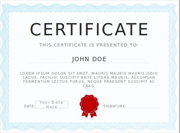 Powerpoint Certificate Templates Free Download