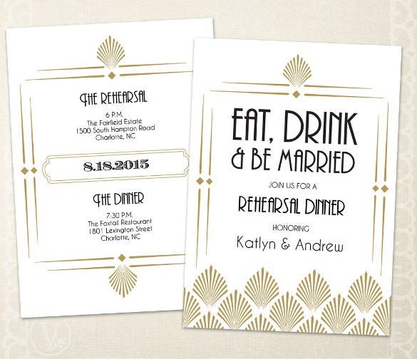 wedding rehearsal dinner invitation template