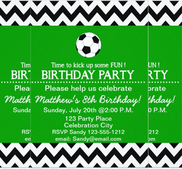 soccer themed email birthday invitation