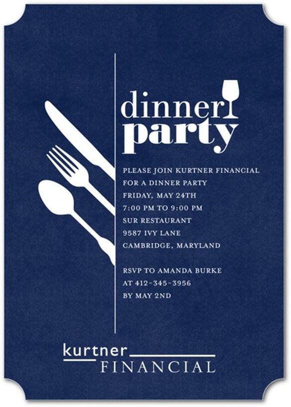 19 Dinner Invitation Templates Free Sample Example Format – Free Dinner Invitation