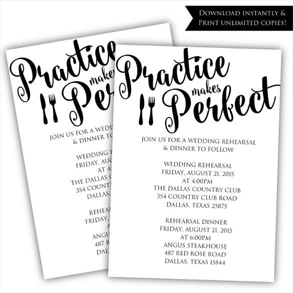Free Printable Rehearsal Dinner Invitations TemplatesPrintable – Free Dinner Invitation