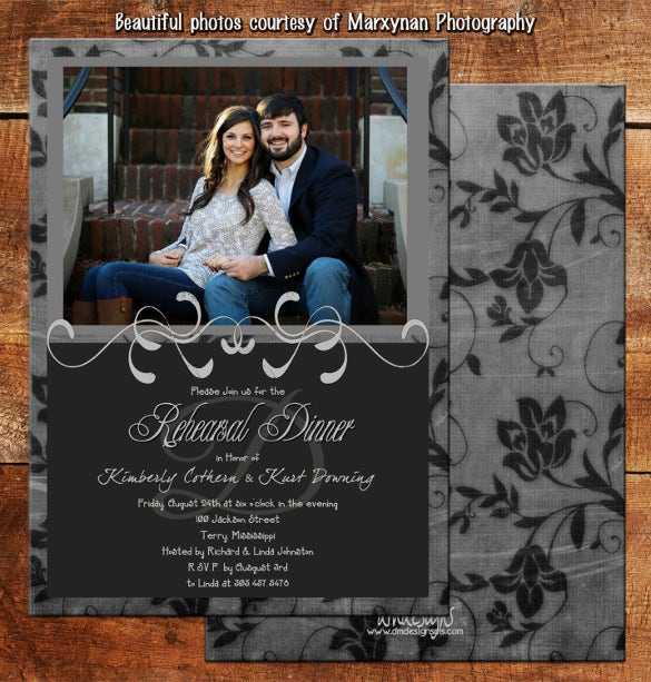 rehearsal dinner invitation card dm3077