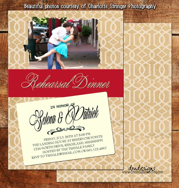 red ruby dinner party template