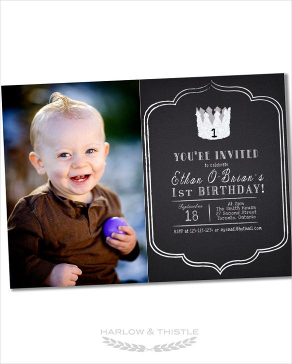 printable email birthday invitation with custom photo