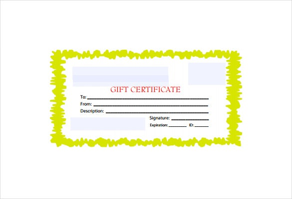 yellowborder business gift certificate free pdf template