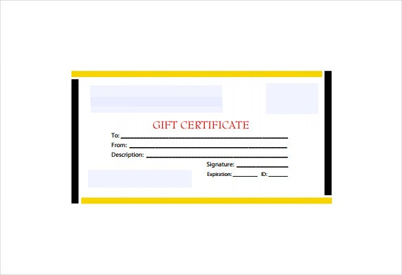 blackyellow business gift certificate example template free download