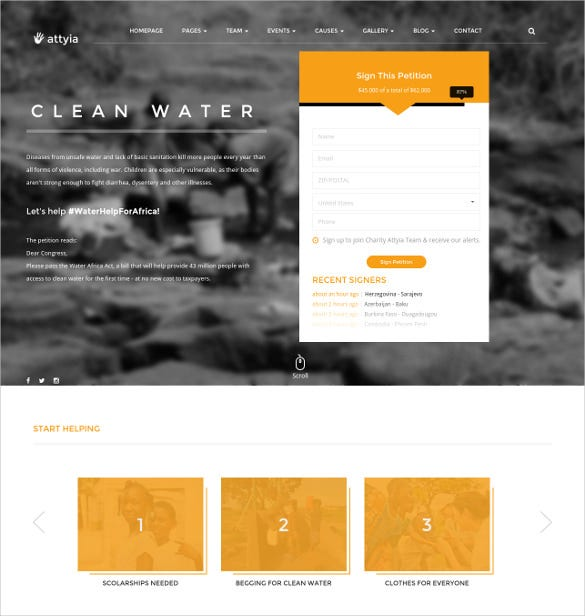 Creative NGO U0026 Charity HTML5 Blog Template $17  Ngo Templates