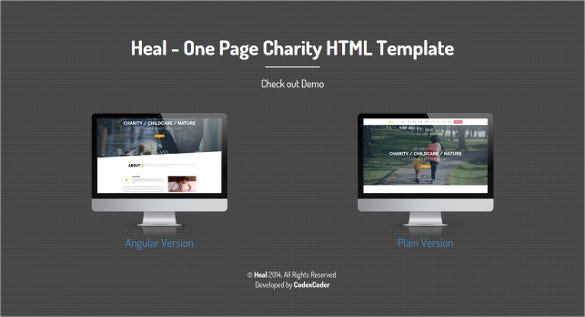 nature charity html template