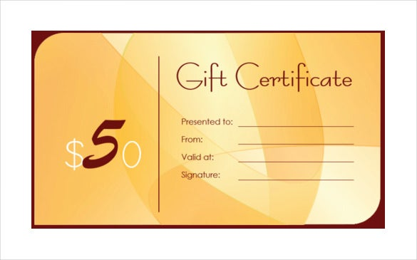 business gift certificate template � 11 free word pdf