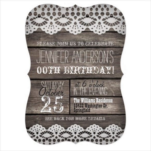 24 teenage birthday invitation templates psd ai free premium white lace rustic brown adult teen birthday invitation filmwisefo