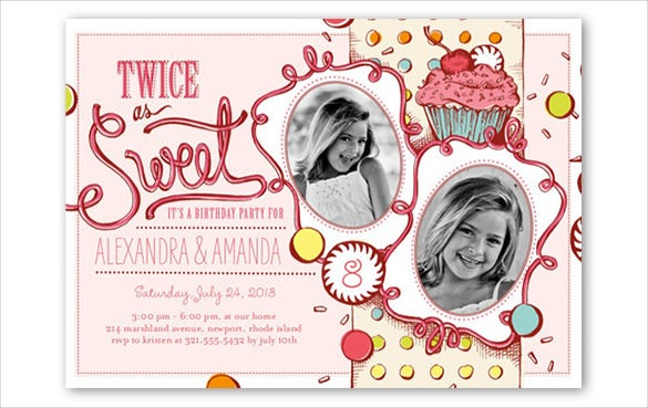 pink teen birthday invitation for girls