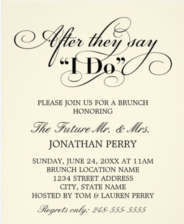 Formal invitation template 31 free sample example format day after wedding brunch invitation wedding vows stopboris