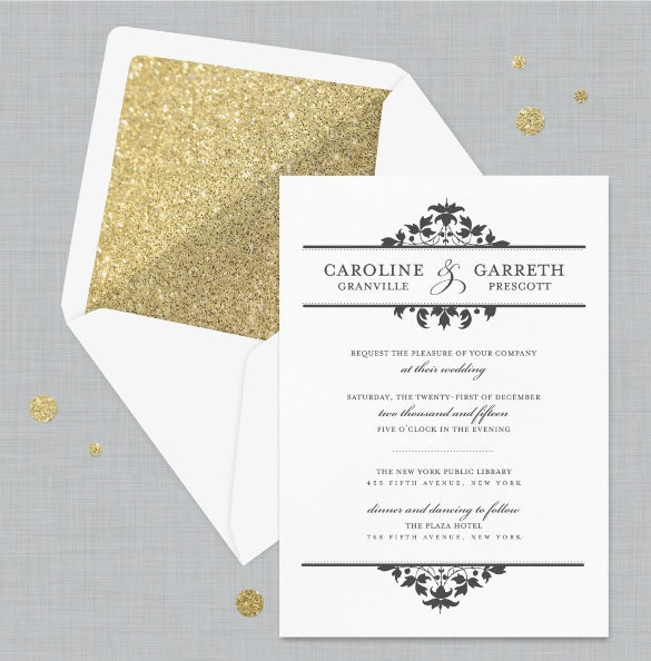 Formal The Olivia Wedding Invitation Vintage Wedding  Free Wedding Invitation Samples By Mail
