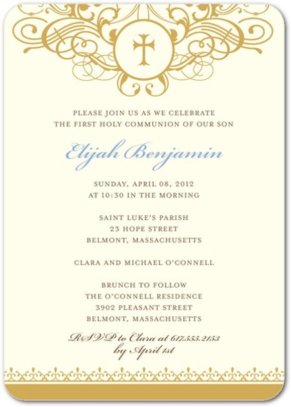 Attractive Vannila Comminia Invitation Regarding Formal Invitations Template
