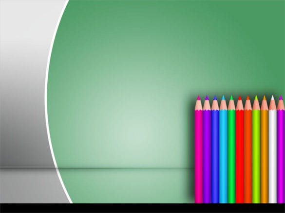 color school pencil powerpoint template
