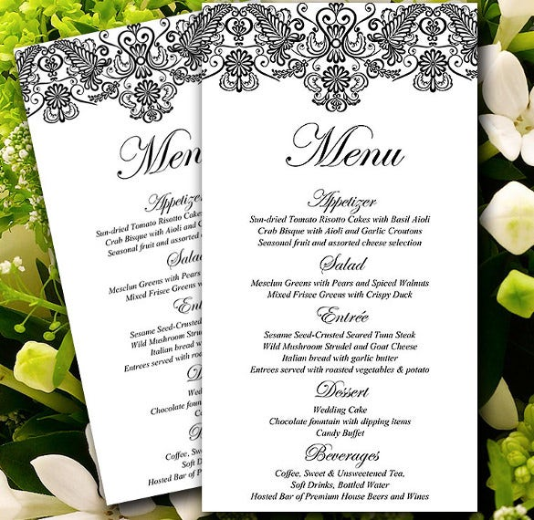 Formal invitation template 31 free sample example format diy menu card microsoft word template stopboris