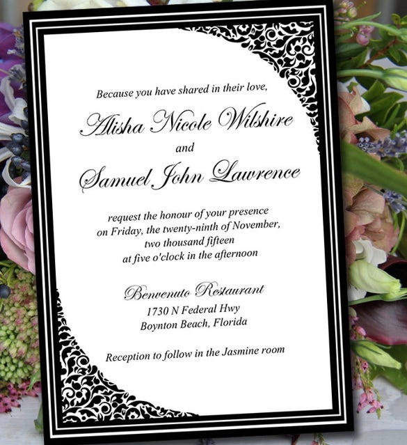 Wedding Invitation Template Download Pasoevolistco - Wedding invitations templates download