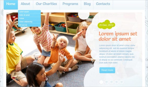 beautiful children charity blog word press template