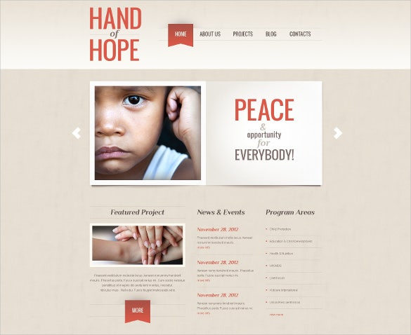 national charity blog word press theme