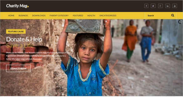 charity blog for donating people blogger template
