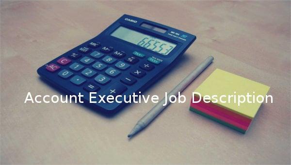 account executive job description template