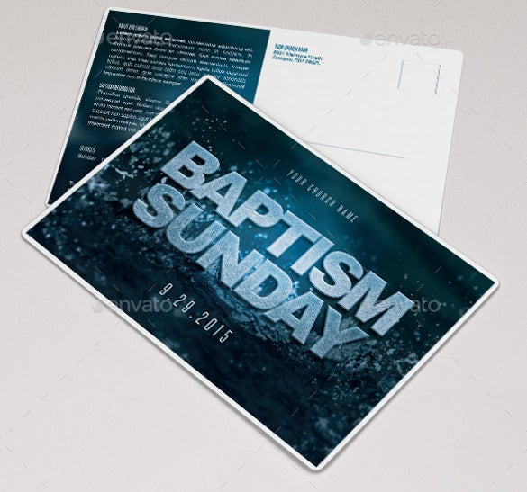 baptize church flyer template bundle