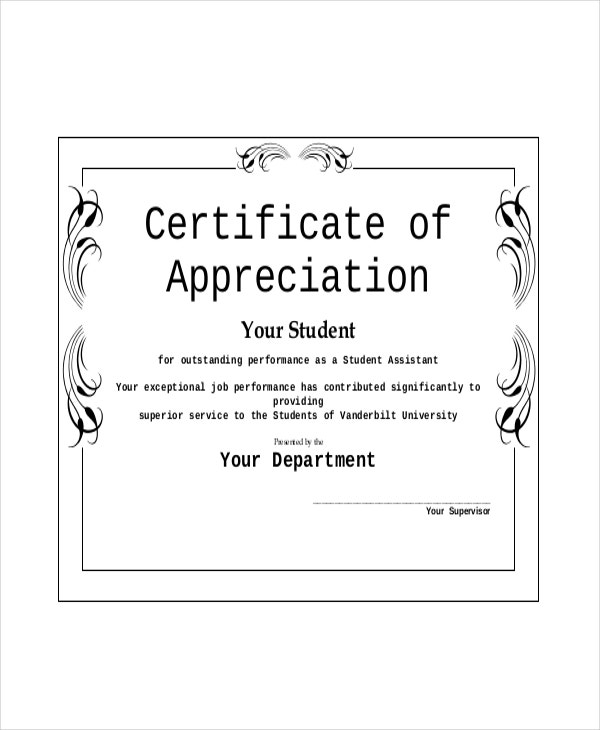 Appreciation Award Template 6 Free Pdf Documents Download Free