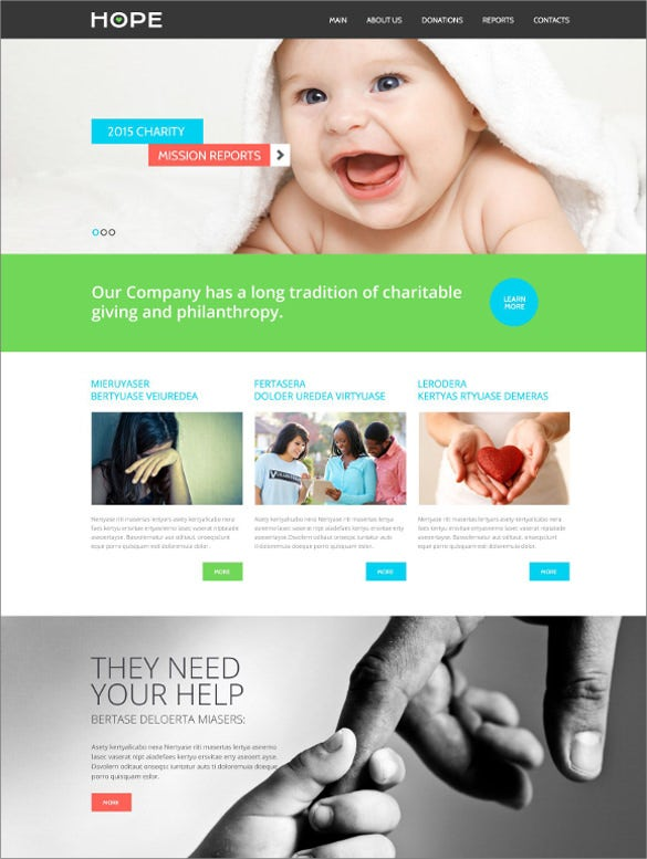 charity html5 website templat