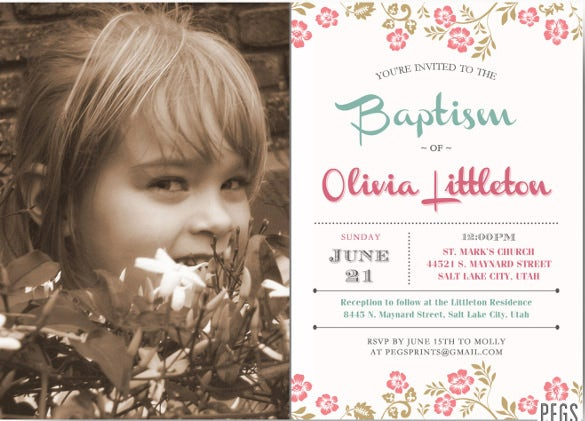 30  baptism invitation templates  u2013 free sample  example  format download