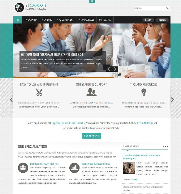 corporate business mobile joomla template