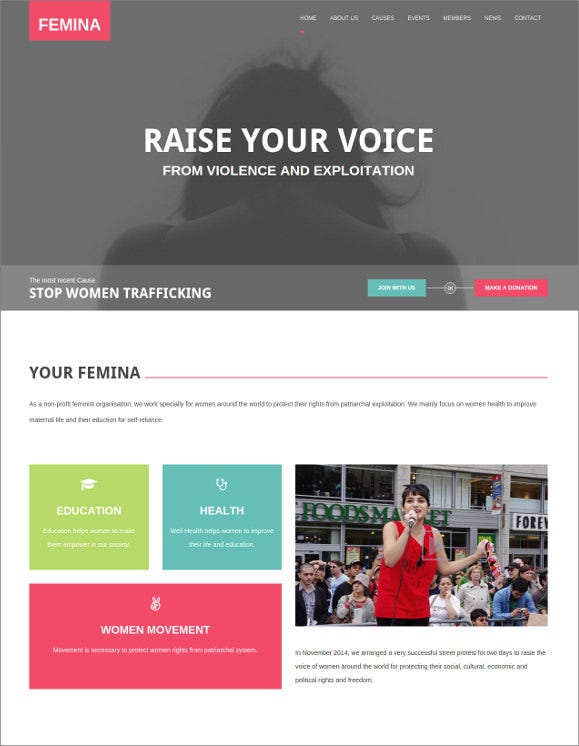 responsive charity html5 theme1