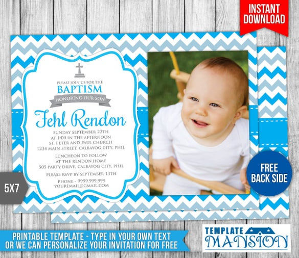 30 Baptism Invitation Templates Free Sample Example