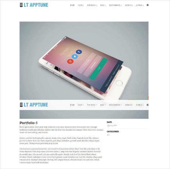 mobile apps joomla template