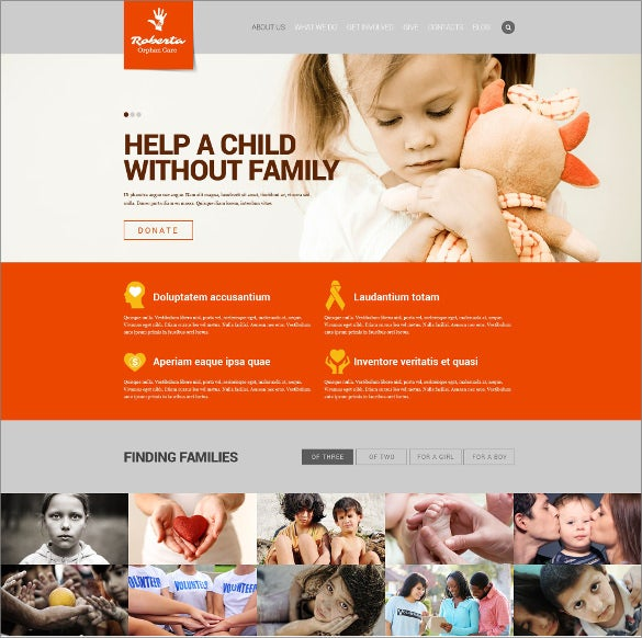 simple children charity html templat