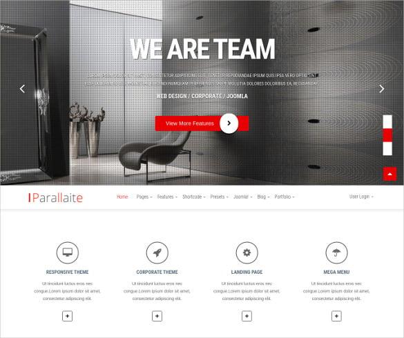 corporate mobile joomla template