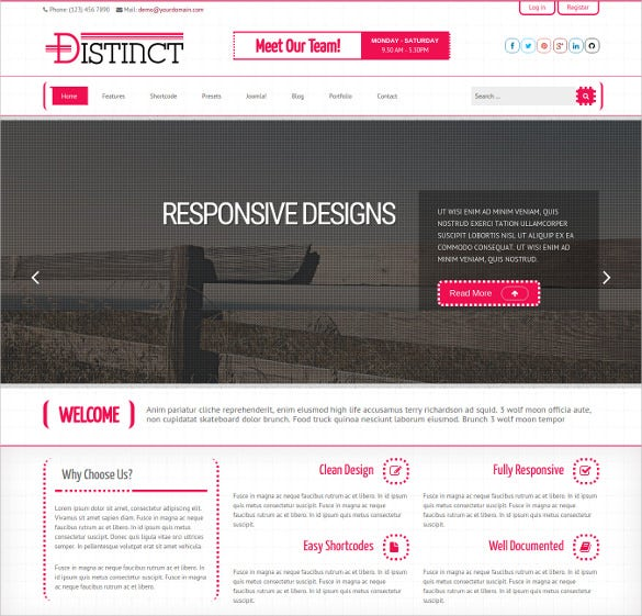 distinct business joomla template