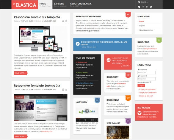 attractive joomla responsive mobile theme