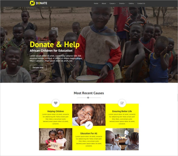 multipurpose non profit html5 website template