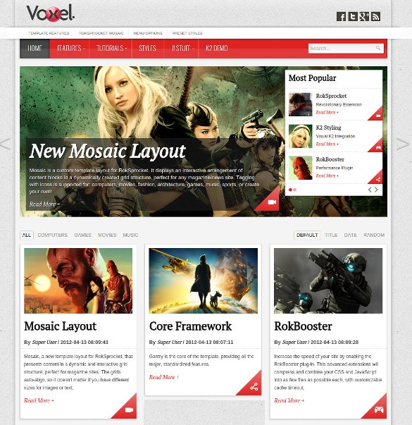 mobile club joomal theme