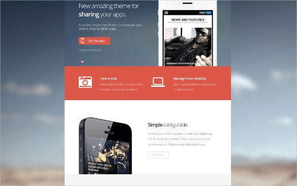 mobile application joomla template