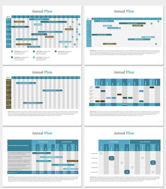 gantt chart annual powerpoint template