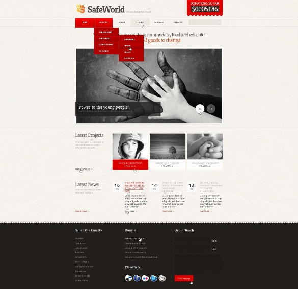 poverty charity html5 template