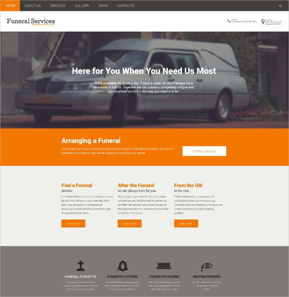funeral services responsive drupal mobile template