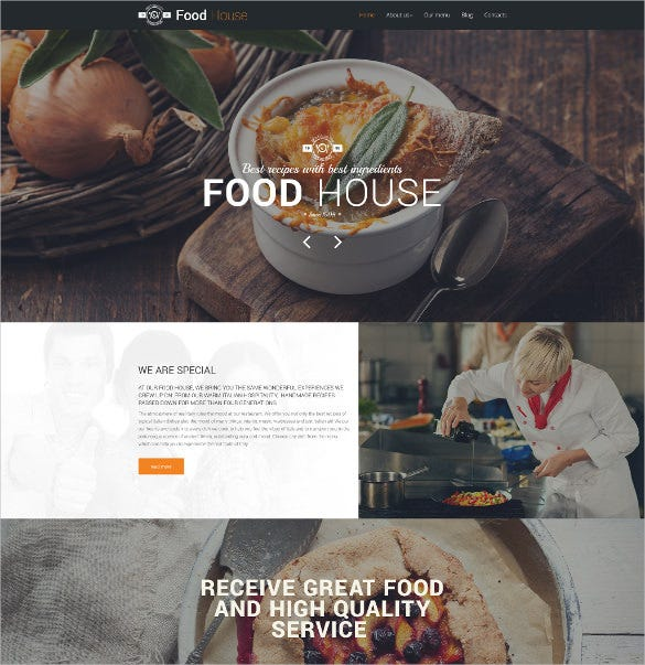food house drupal mobile template
