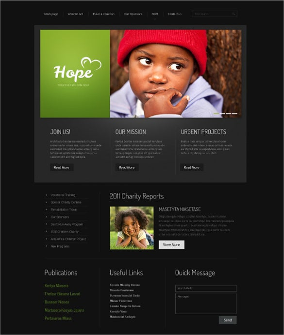 pleasing charity html5 website template