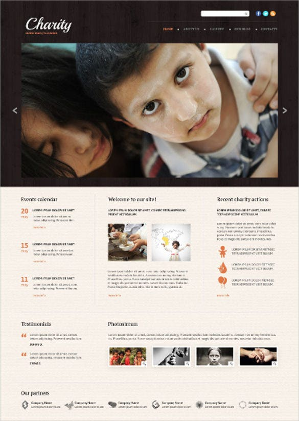 good looking charity html5 website template