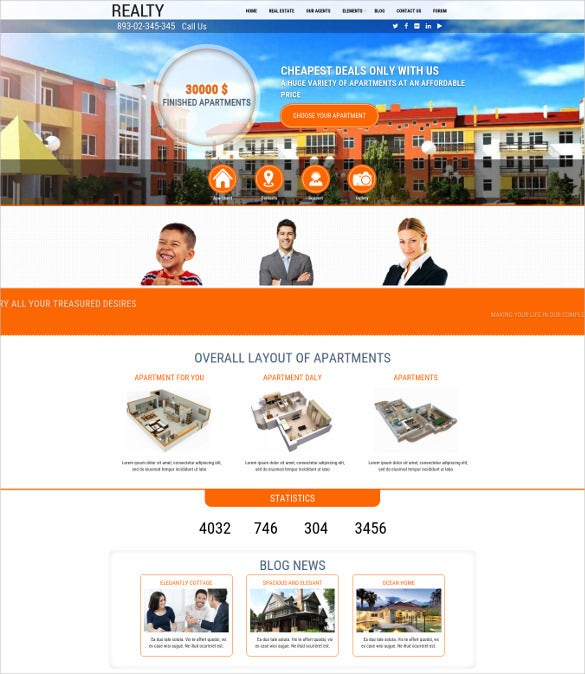 drupal real estate mobile theme1