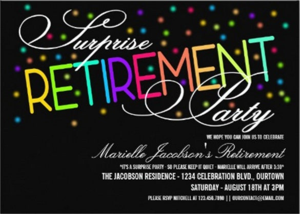 16 Retirement Invitation Templates Free Sample Example Format – Surprise Retirement Party Invitation