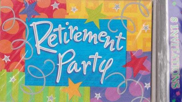 happy retirement invitation cards