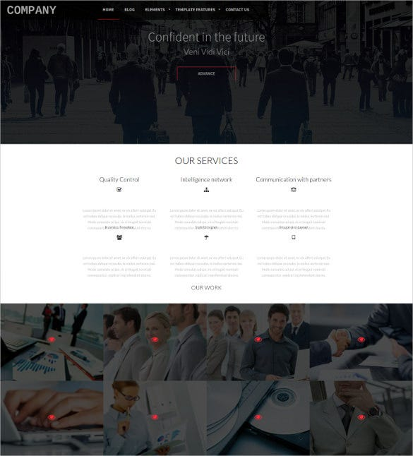 business company drupal mobile template